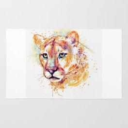Cougar Head Rug
