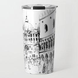 Sketch of San Marco Square in Venice Travel Mug