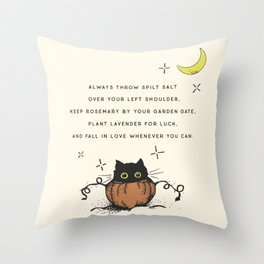 Witch Advice Throw Pillow