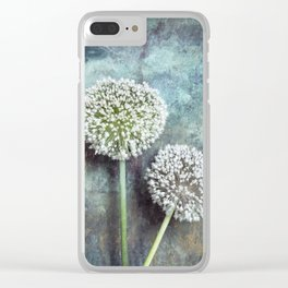 Allium Flowers Clear iPhone Case