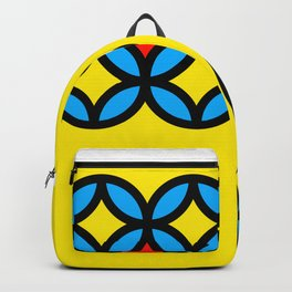Colored Circles on Yellow Board Backpack