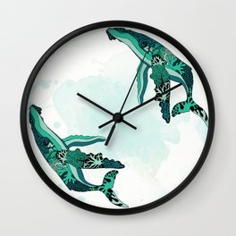 Coral Reef Humpback Whale Wall Clock