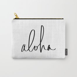 Aloha Hawaii Typography Carry-All Pouch