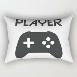 Player Text and Gamepad Rectangular Pillow