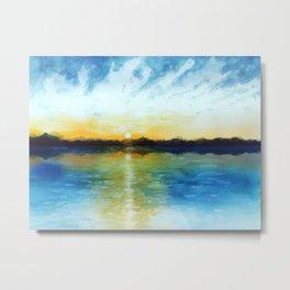 Sunrise by the sea Metal Print