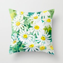 Chamomiles Throw Pillow