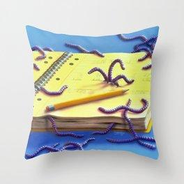 Go Eat Worms Throw Pillow