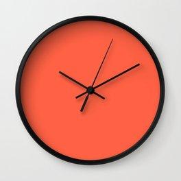 Wild Salmon Pink Color Scheme Home Decor Wall Clock