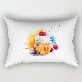 Watercolor muffin Rectangular Pillow