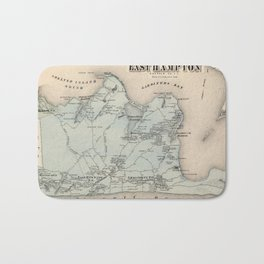 Map of East Hampton 1873 Bath Mat