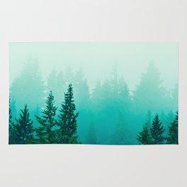 Fog Foggy Samish Forest Woods Mountain Northwest Washington Landscape Rug