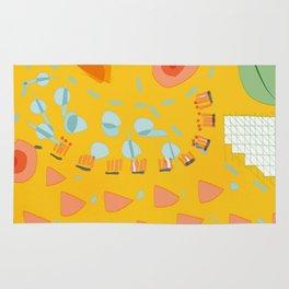 Yellow sunshine darling | Home decor | Happy art Rug