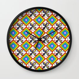 symetric patterns 75-mandala,geometric,rosace,harmony,star,symmetry Wall Clock