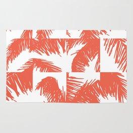 Palm Leaf Pattern Orange Rug