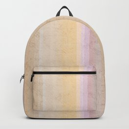 Multi-colored striped pattern .3 Backpack