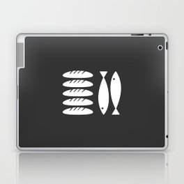 Five loaves and two fishes - grey Laptop & iPad Skin