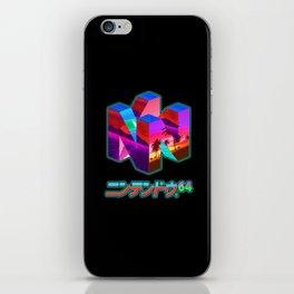 Nintendo 64 Vaporwave iPhone Skin