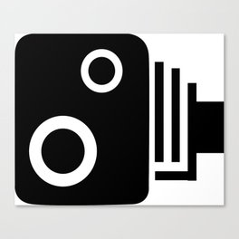 Isolated Speed Camera Canvas Print