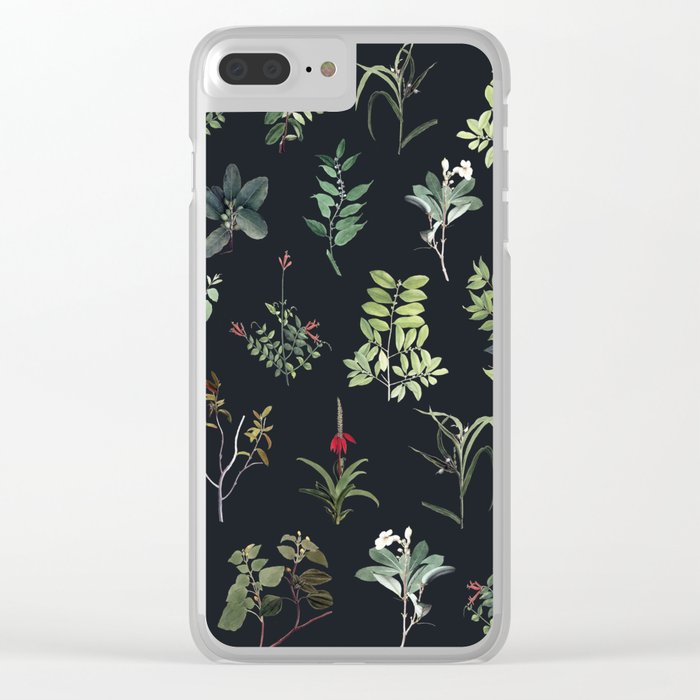 Green Nature at Night Clear iPhone Case