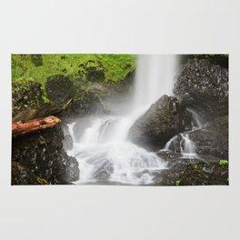 Pacific Northwest Adventure - Long Exposure Waterfall | Silver Falls Rug
