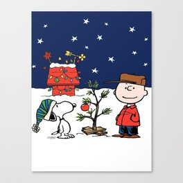 snoopy christmas Canvas Print