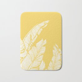 Banana Leaves on Yellow #society6 #decor #buyart Bath Mat