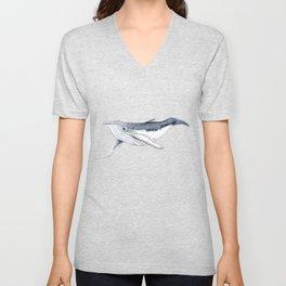 Baby humpback whale (Megaptera novaeangliae) Unisex V-Neck