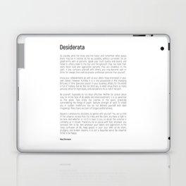 Desiderata #minimalism Laptop & iPad Skin