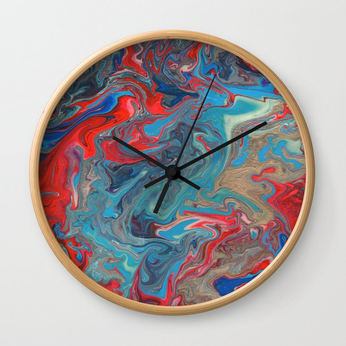 Abstract Oil Painting 20 Wall Clock