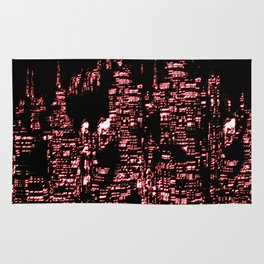 Night Glowing City Rug