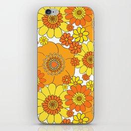 Flower bunch orange and yellow iPhone Skin