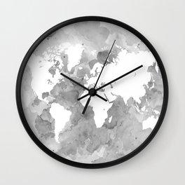 Design 49 Grayscale World Map Wall Clock