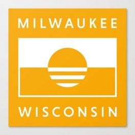 Milwaukee Wisconsin - Gold - People's Flag of Milwaukee Canvas Print