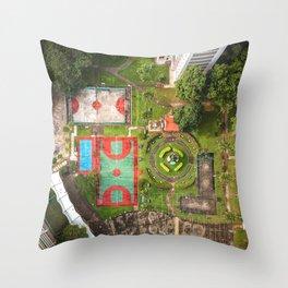 Singapore aerial drone Throw Pillow