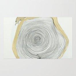 """outwards not inwards"" spiral Rug"