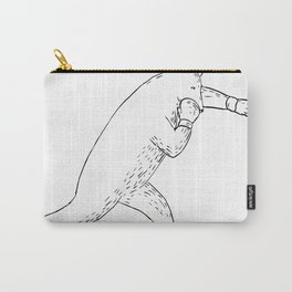 Kodiak Bear Left Straight Punch Drawing Carry-All Pouch