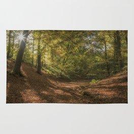Autumn Woodland  Sunrise Rug
