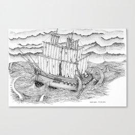 Ship and sea Canvas Print
