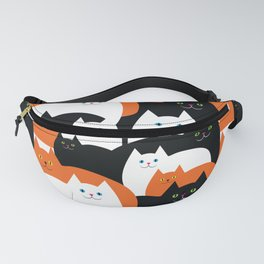 Cat Family on Halloween Fanny Pack