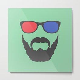 3D beard Metal Print