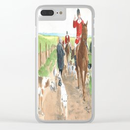Foxhunt 3 Clear iPhone Case