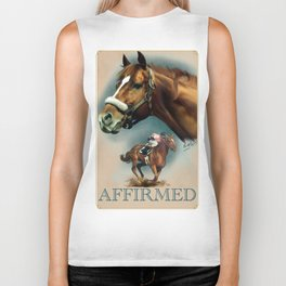 Affirmed with Name Plate Biker Tank