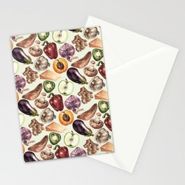 Food Pattern Stationery Cards