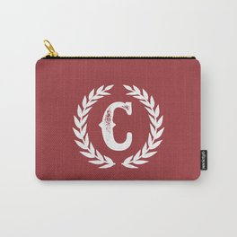 Rustic Red Monogram: Letter C Carry-All Pouch