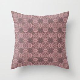 Bridal Rose Geometric Floral Throw Pillow