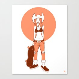 Skater Girl Canvas Print