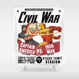 Civil War Fight Shower Curtain