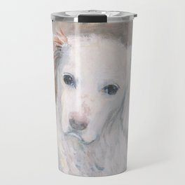 White Dog #2 Travel Mug