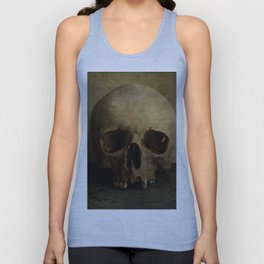 Male skull in retro style Unisex Tank Top