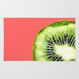 Kiwi on Coral Rug